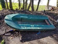 Rigid plastic boat