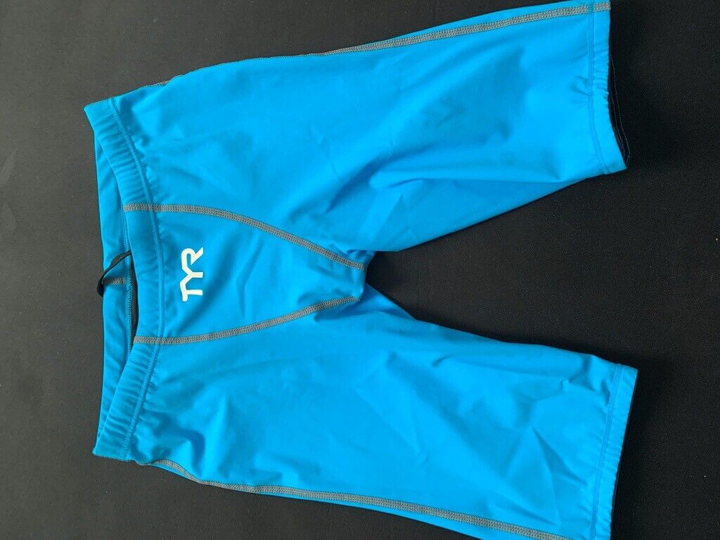 TYR THRESHER MALE RACING JAMMER Racing suit, Size 28, Blue, New without tag