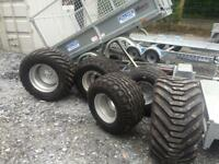 Agri trailer tyres for silage trailers farm trailer truck trailer wheels