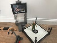 WWE Figures, Entrance Stage, Ring and Catapult