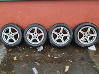 VAUXHALL ASTRA FOX 16 INCH ALLOYS AND TYRES 5 STUD