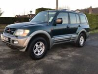 2001 Mitsubishi Shogun 3.2 DID GLS LWB 7 seats 4x4 jeep Manual trade in considered, credit cards ok