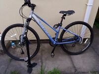 Carrera Crossfire II women's hybrid bicycle. Only 3 years old, very good condition.