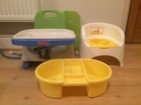 Booster seat, Toilet seat and Washing up bowl only £5 WOW BARGAIN