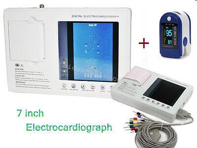 Portable 3-channel Electrocardiograph Ecg Monitor Ekg Cardiograph Interpretation