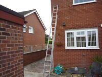 Double 14 rung aluminium ladder light weight