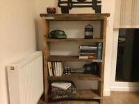 Unique solid hand made industrial style bookcase