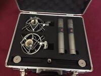 Matched Pair SE3 Microphones sE Electronics Mics - with Shockmounts & Flight Case