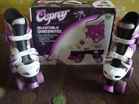 Girls Osprey adjustable quad skates size 13 to 3 Rollerboots roller boots