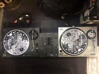 Technics 1210 + Audio Technica LP120-USB Turntables + Pioneer DJM-400 Mixer