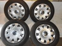 VW Golf V VI 5x112 15'' STEEL WHEELS & TYRES 195/65/16