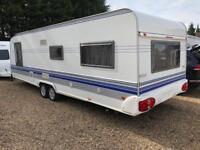 Hobby caravan 700 U.K. special (2006) island bed, air conditioning