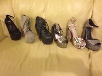 Size 5 shoes £15 per pair ( £90 the lot)