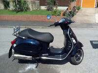 Vespa GTS125, 11 months MOT, fitted with GTS250 engine REG'd as 125