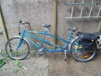Tandem in good condition with panniers. French make.