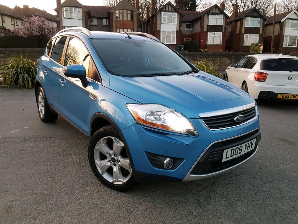 2009 ford kuga 2 5t titanium auto 4x4 blue leathers xenons sat nav top spec 1