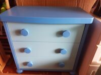 IKEA Mammut Childrens Blue Chest of Drawers