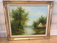 Oil on Canvas painting - country scene