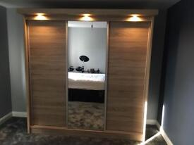 Wardrobe 3 sliding doors, new, delivered & assembled