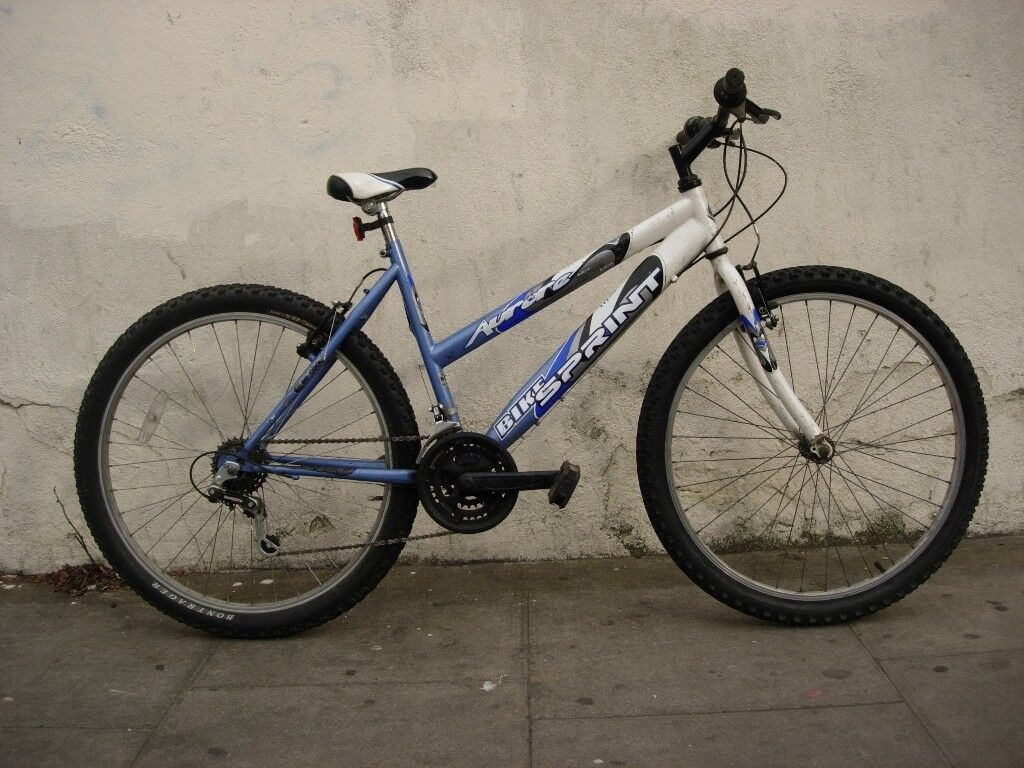 Ladies Mountain/ Commuter Bike by Sprint,Blue and White
