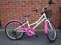 """Dawes Li'l Duchess 11"""" Frame 20"""" Wheels Girls Bike Cream & Pink."""