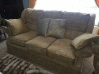 Sofa, 2 Arm Chairs and a corner unit