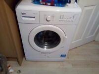 White Beko washing machine 6kg load