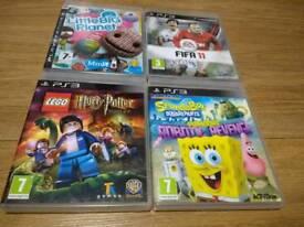PS3 4 GAMES BUNDLE FOR KIDS