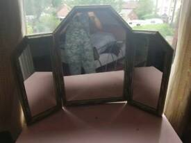 3 mirror angled dressing table mirror