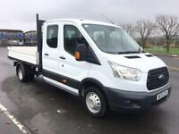 FORD TRANSIT 2.2 350 L3 DOUBLECAB PICKUP 125BHP ONE OWNER, FULL HISTORY, EX COND (white) 2015
