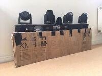 KAM KMH4 Moving Head Cree Quad 10w LED Lights (Boxed)