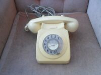 VINTAGE CREAM BT HOME HOUSE DIAL PHONE