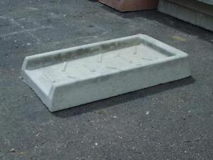 Concrete downspout  splash guard