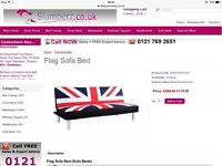 Brand New Union Jack Sofa Bed