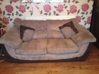 2 3 seater couches for sale pick up dovecot 12monts old £250 x