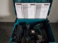 MAKITA DLX2131JX1 18V LI-ION 2 PIECE KIT DHP482 COMBI + DTD152 IMPACT DRIVER INC 3X 3AH BATTERIES