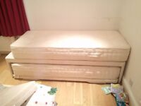 Feather & Black Trundle / Guest Bed, 2 mattresses -- AVAILABLE