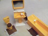 Vintage Sindy Doll Bathroom Set