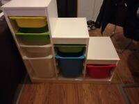 Ikea stroage combination with boxes