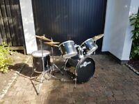 Full Size Starter Drum Kit by Gear4music, Black
