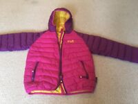 Girls Jack wolfskin jacket size 140 9/10 years