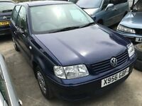 2000 VOLKSWAGEN POLO MATCH (MANUAL PETROL)- FOR PARTS ONLY