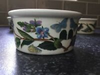 Portmeirion Botanic Garden set of 5 ramekin dishes,