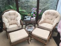 Conservatory/garden/patio furniture and chairs.