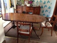 For sale Extending Dining table and chairs