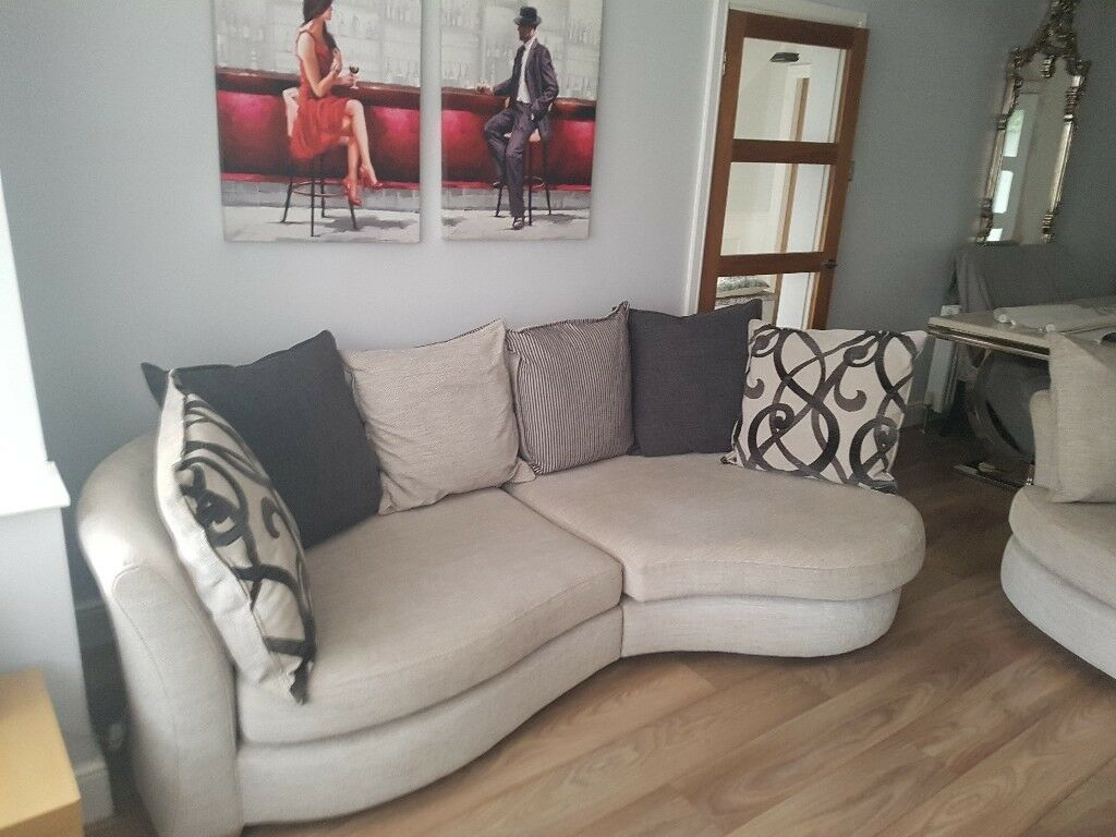 Dfs Sofa 3 Seater Snuggle Chair And Swivel Stool Quick