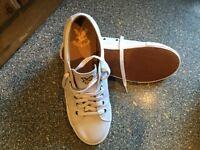 LYLE & SCOTT white canvas pumps size 10. NEVER WORN wardrobe find !!! HOLIDAYS, school etc...