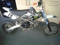 125cc lifan pit bike/pitbike not quad ktm crf