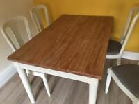 John Lewis Mango Topped Table and 6 chairs
