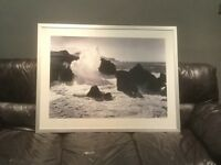 Waves on Rocks Print